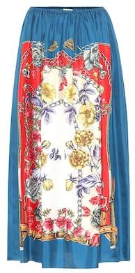 Gucci Boudoir-printed silk skirt