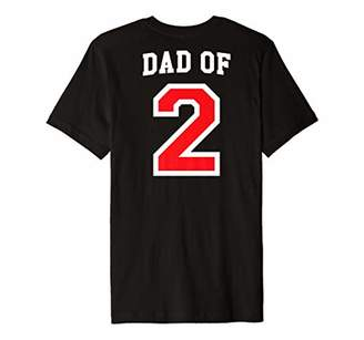 Mens Dad of Two Baseball Jersey Uniform Shirt