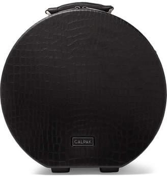 CalPak Baye Medium Croc-effect Faux Leather Hardshell Hat Box - Black
