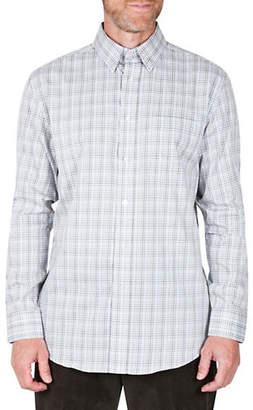 Haggar Long-Sleeve Gingham Shirt