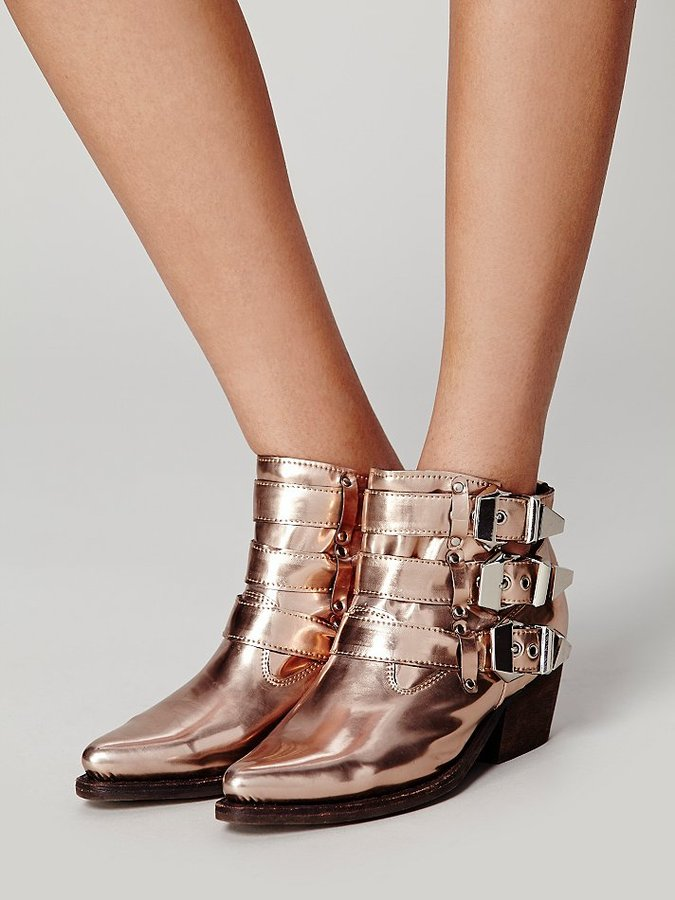 Free People Buckle Back Ankle Boot