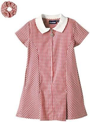 Avon Blue Max Banner Girls Checke Short Sleeve Dress,(Manufacturer Size:8/9)