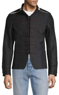 Valentino Stand Collar Military Jacket