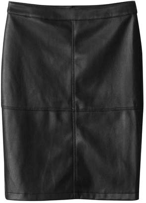 School Rag Faux Leather Skirt