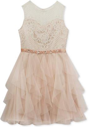 Rare Editions Lace-Bodice Dress, Big Girls