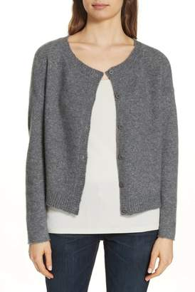 Eileen Fisher Ballet Neck Cashmere Blend Cardigan