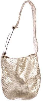 Valentino Metallic Snakeskin Shoulder Bag