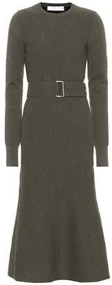 Victoria Beckham Belted flared wool dress