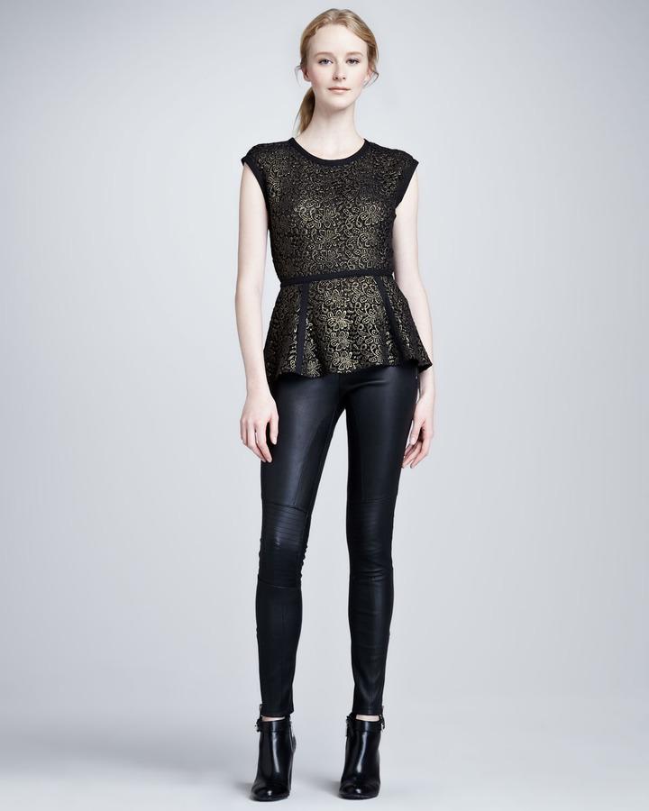 Rachel Zoe Maxine Skinny Leather Pants