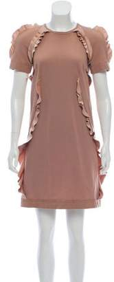 Lanvin Satin Trim Knit Dress
