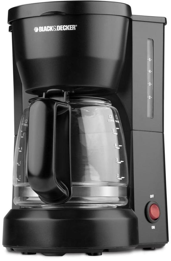 BLACK+DECKER 5-Cup Coffee Maker Glass Carafe in White