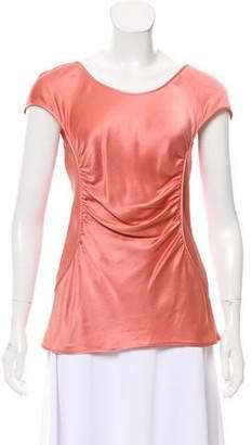 Alberta Ferretti Silk Short Sleeve Top