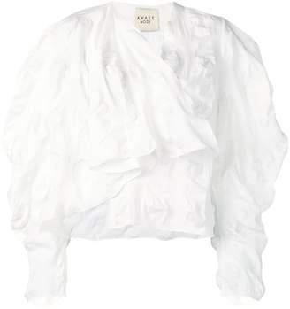 A.W.A.K.E. Mode ruffle blouse