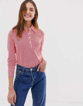 Fred Perry x Bella Freud stripe longsleeve shirt