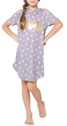 DC Batgirl Cold Shoulder Pajama Nightgown (Little Girls & Big Girls)