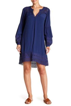 Hale Bob Eyelet Lace Trim Dress