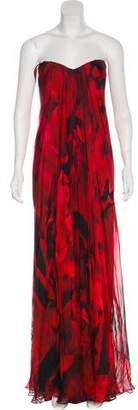 Alexander McQueen Printed Evening Dress w/ Tags