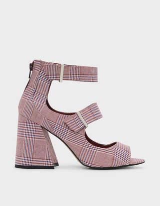 Charles & Keith Thick Strap Heeled Sandals
