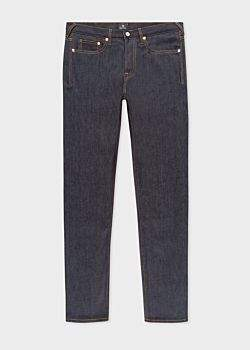 Paul Smith Men's Standard-Fit 13oz Indigo Rinse 'Exclusive And Pink Selvedge' Denim Jeans