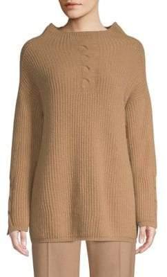 Max Mara Tenore Rib-Knit Virgin Wool & Cashmere Sweater