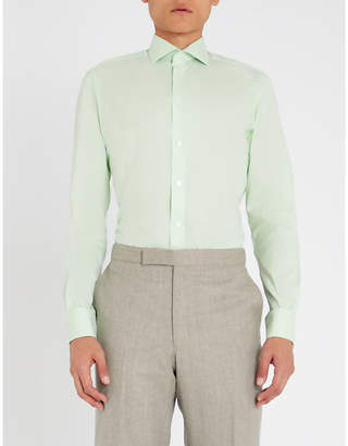 Smyth & Gibson Mini houndstooth tailored-fit cotton shirt