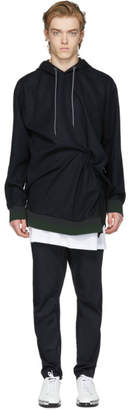 Wooyoungmi Navy Crushed Hoodie