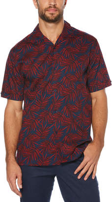 Cubavera Tropical Palm Frond Printed Shirt