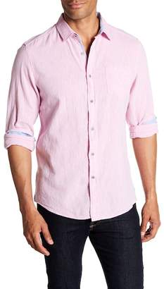 Report Collection Long Sleeve Slim Fit Linen Blend Shirt
