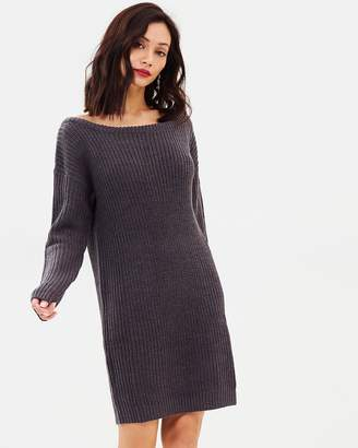 Missguided Off Shoulder Jumper Dress