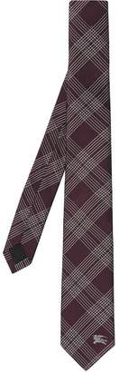 32fa77535ddb Burberry Modern Cut Check Silk Jacquard Tie