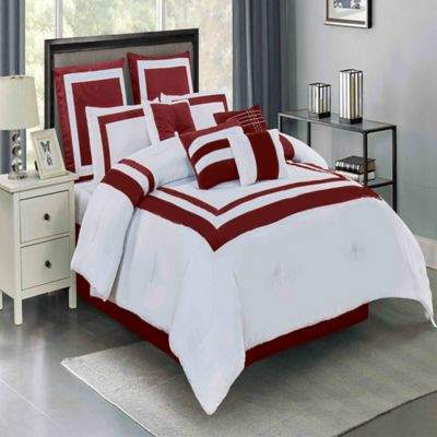 Buy Wonder Home Victor 10-Piece Queen Comforter Set in Red!