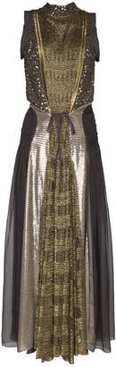 Chloé Silk Crystal and Sequin Embroidered Dress