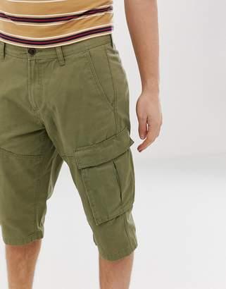 Esprit organic cotton long cargo shorts in khaki