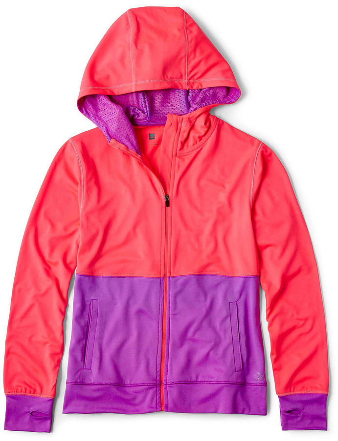JCPenney Xersion™ Colorblock Thumb-Hole Hoodie - Girls 6-16 and Plus