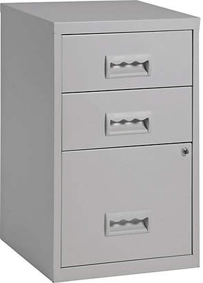 Combi Pierre Henry 3 Drawer Filing Cabinet - Grey
