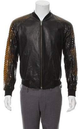 Alexander McQueen Leather & Python Jacket
