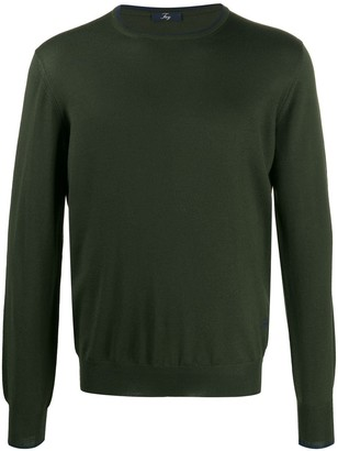 Fay elbow patch detail jumper