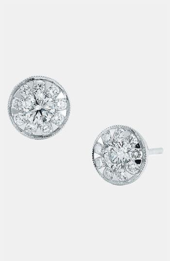 Kwiat 'Sunburst' Diamond Stud Earrings