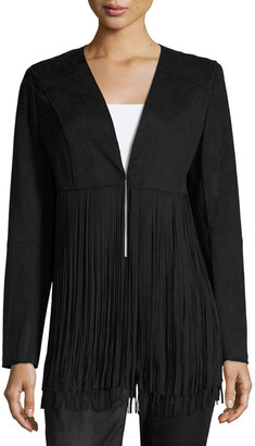Philosophy Faux-Suede Fringed Jacket, Black $85 thestylecure.com