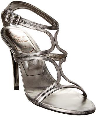 Roger Vivier Leather Ankle Strap Sandal