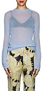 Giorgio Armani WOMEN'S BELL-SLEEVE CASHMERE SWEATER - BLUE SIZE 48 IT