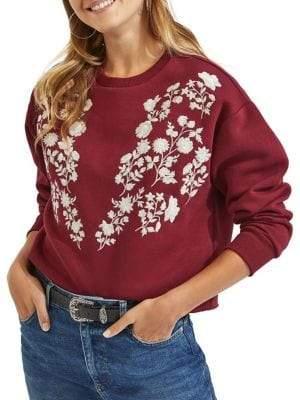 Miss Selfridge Embroidered Long-Sleeve Sweater