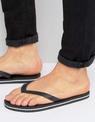 Asos Flip Flops In Black