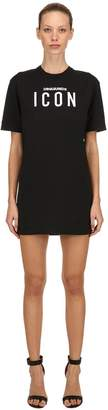 DSQUARED2 Icon Embroidered Jersey T-Shirt Dress