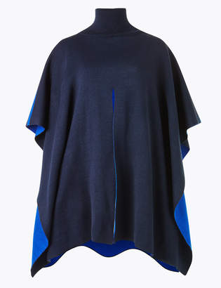 Marks and Spencer Contrast Split Front Poncho