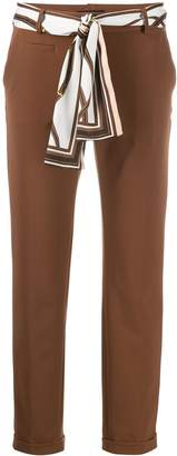Cambio scarf belted trousers