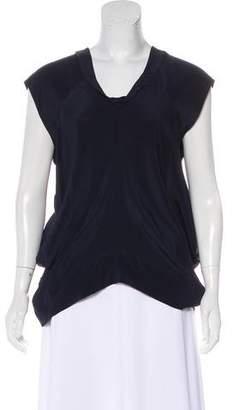 AllSaints Silk Asymmetrical Top