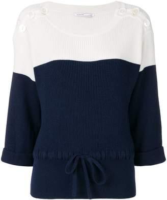 Agnona colour block ribbed sweater