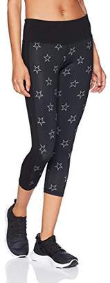 "Starter Women's 20"" High-Waisted Star Cropped Workout Legging"