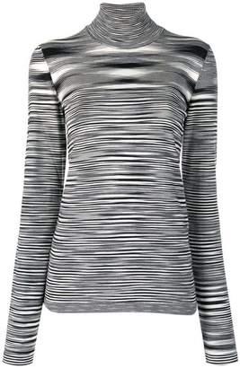 Missoni striped roll neck jumper